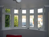curved bay window before