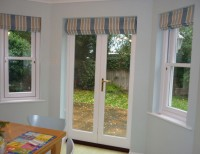 After adding Roman blinds to patio doors
