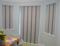 After adding Roman blinds to French doors