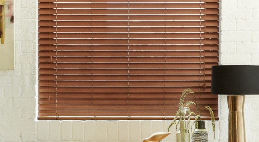 25, 35 and 50mm wooden and fauxwood venetials - Harmony Blinds