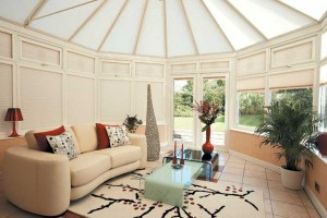 pleated conservatory blinds